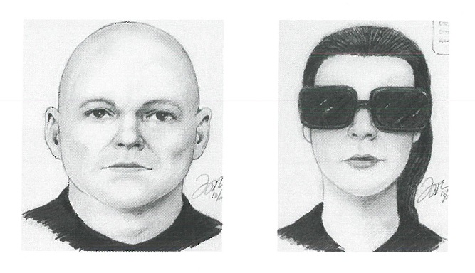 Sketches of the suspects.