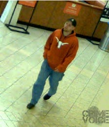 Azcona seen in a surveillance image in a suspected robbery.