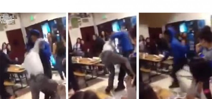 Principal Body Slammed to Ground during Sacramento High School Brawl