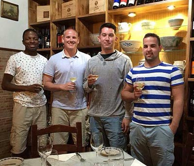 Spencer Stone gathers with friends in France (Facebook)