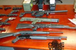Victorville Raid Nets 22 Firearms in Possession of Felon, Gang Member