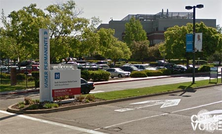 The officer was assaulted while he was outside the Kaiser Permanente South Hospital.