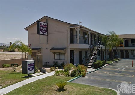 James Lyon and Angelina Ronquillo were found at this motel in San Bernardino.