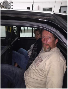 Kelly Colby and Louis Latini after they were arrested (Vacaville PD)