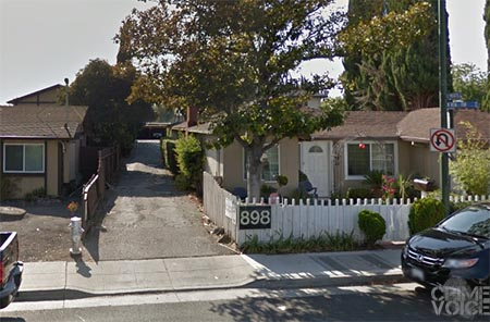 In the majority of his arrests in the past 8 years, Jaimes reported living in an apartment down the alley from this Mountain View house.