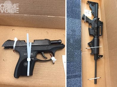 The 2 guns confiscated from Yang (Suisun PD)