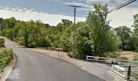 Where Ridgewood Road meets Eastside Road in Willits