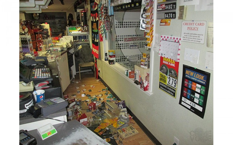 Trail of broken cigars leads to robbery suspect