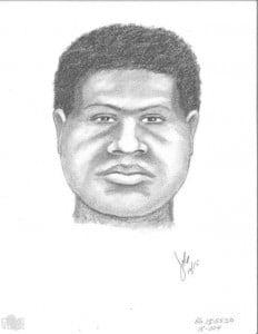 Police sketch of assault suspect