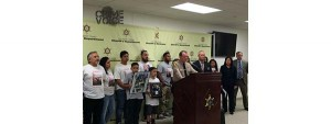 Police press conference with family members