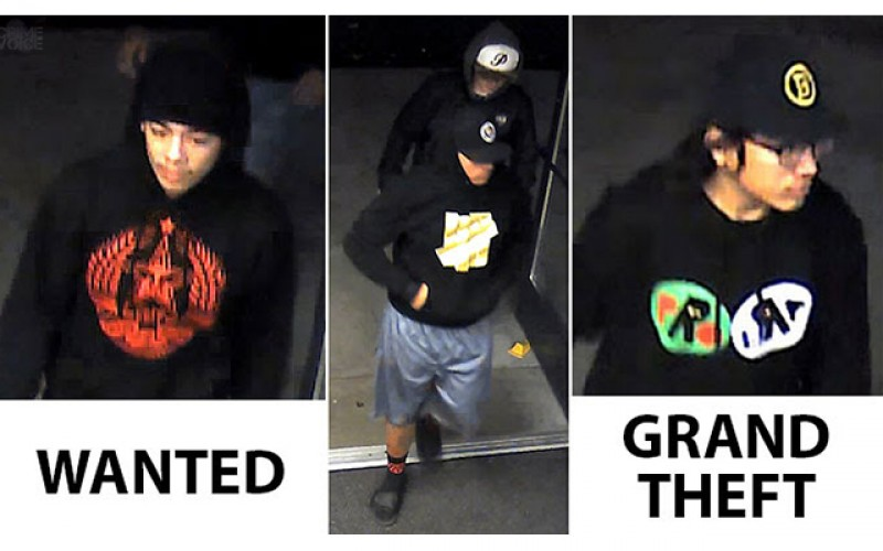 San Jose PD Calls on Public to Help Identify Grand Theft Suspects