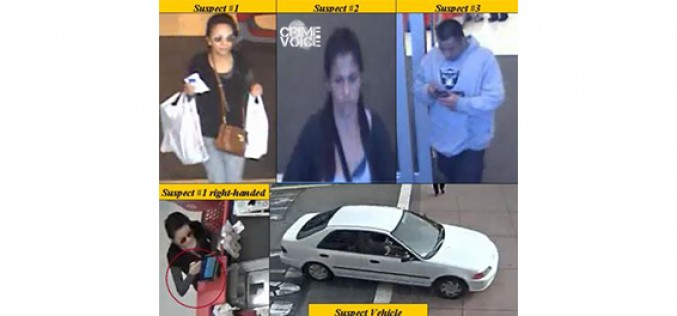 Pomona Police Need Your Help: Car Burglars Go On Stolen Credit Card Shopping Sprees