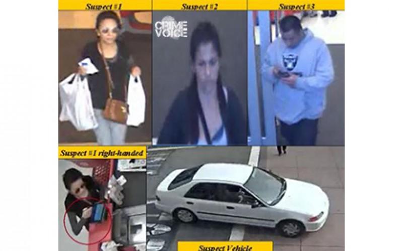 Pomona Police Need Your Help: Car Burglars Go On Stolen Credit Card Shopping Sprees
