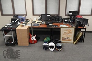 Police display stolen items