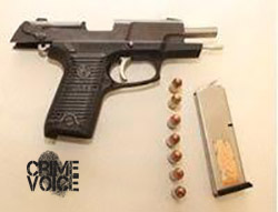Rodriguez's pistol that was recovered by officers.