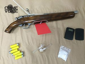 Police display confiscated material