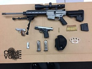Weapons confiscated from Miramontez