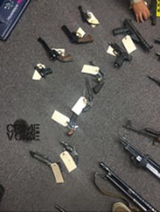 Police display more guns