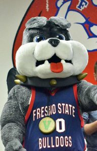 Jeanpierre also worked as Timeout, the Fresno State mascot