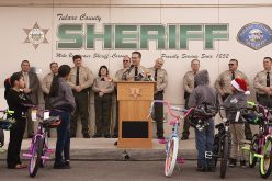 Tulare SD Holds Open House, Bike Giveaway