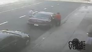 Surveillance pic of suspects and car