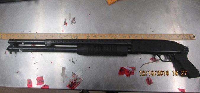 Homeowner Threatens Visitor with Shotgun
