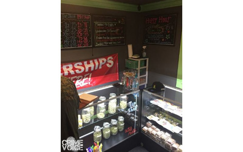 Illegal Marijuana Dispensary Shut Down