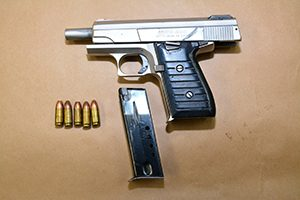 Police confiscated this gun