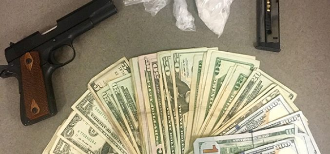 Meth, Stolen Gun and $1,000 Seized