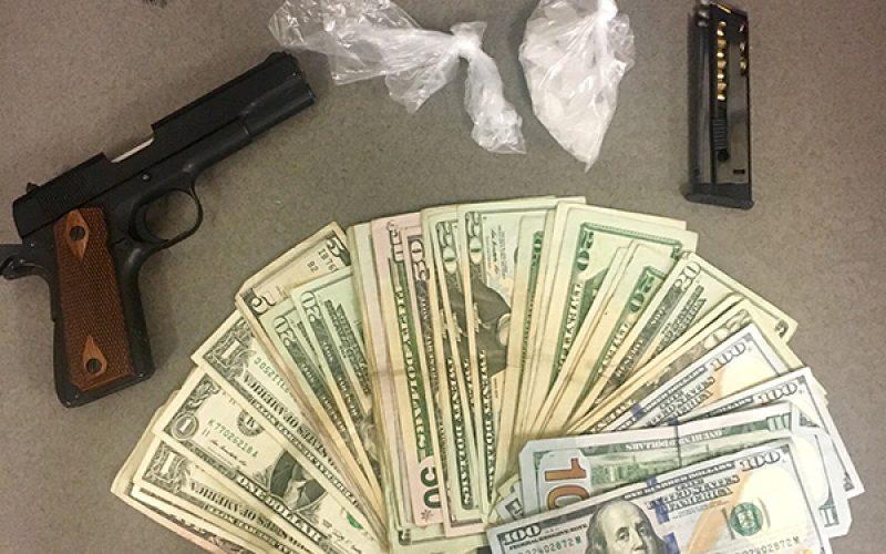 Meth, Stolen Gun and $1,000 Seized