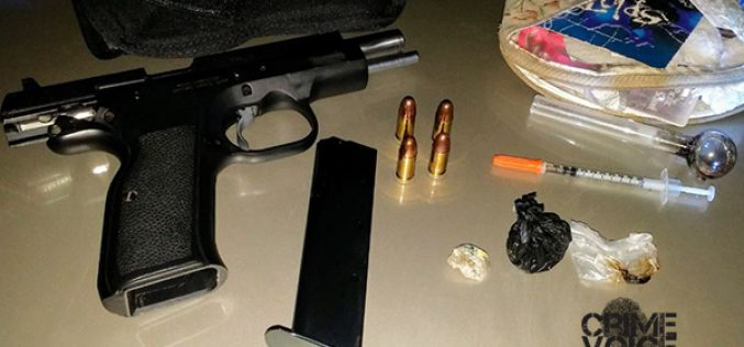 Three Arrested for Drugs, Gun Possession