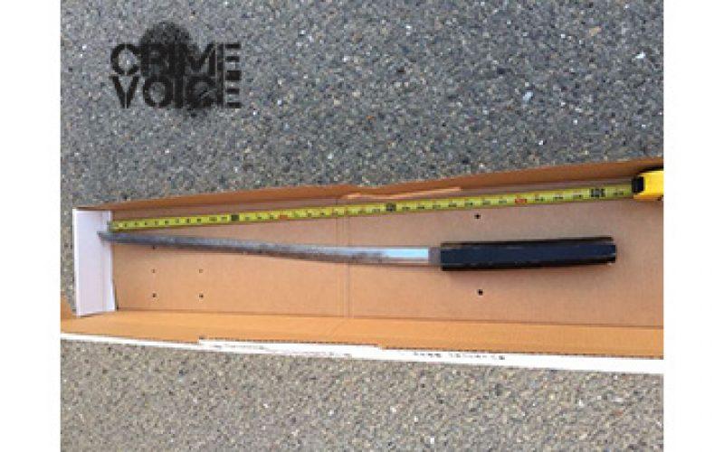 Homeless Swordsman Arrested after Fleeing from Encampment