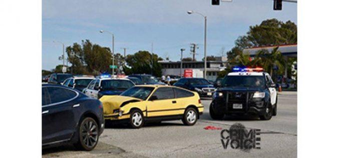 Man Assaults Bondsman, Crashes While Fleeing