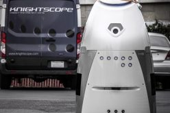 Prowler tips over Knightscope robot