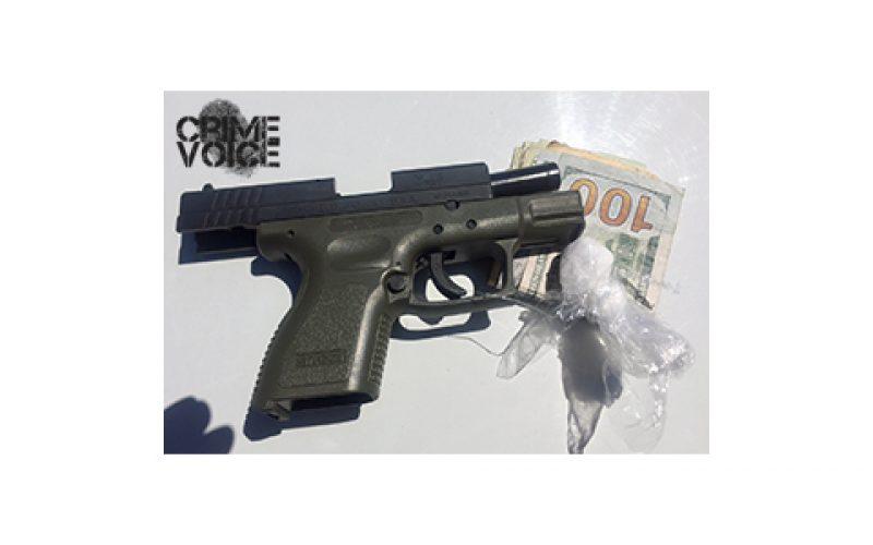 Various Searches Yield Gun, Drugs