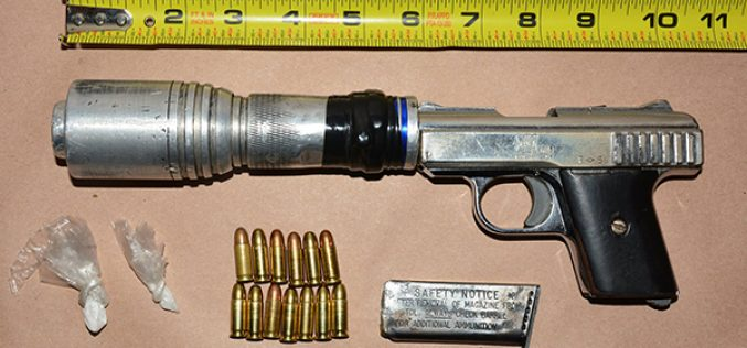 Unlicensed Driver Found with Home-made Handgun Silencer