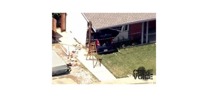 Chase Ends with Car Crashing into House, 3 Burglary Suspects in Custody