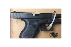 Police Discover Glock in Resister's Waistband