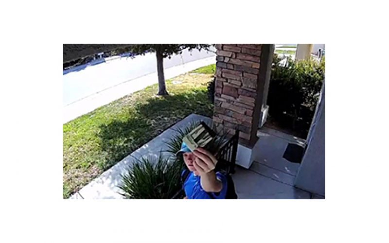 Home Security Cam Catches $1,500 Good Deed