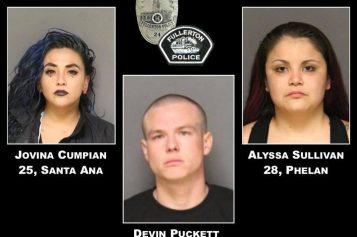 Vehicle Code Stop Yields Three Arrests