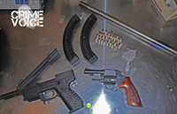 confiscated guns used in the murder