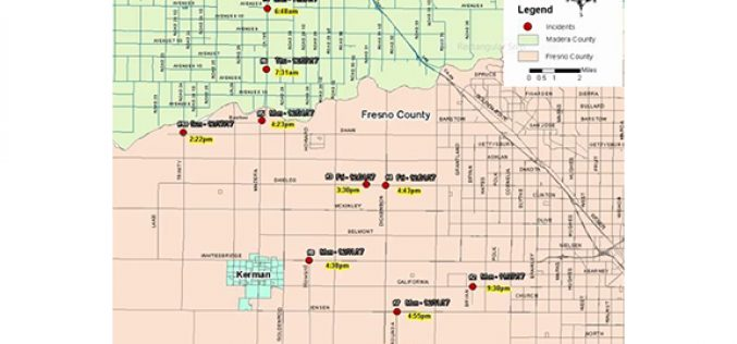 UPDATE – Random Shootings Trending in Fresno and Madera County
