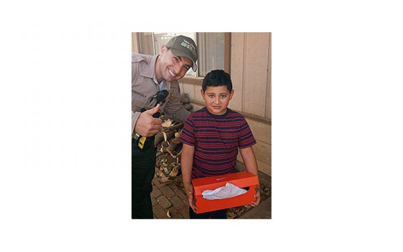 Tulare SD Helps Burglary Victim