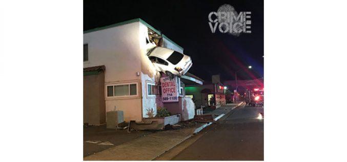 Speeding Car Ends up in 2nd Floor of Dental Office