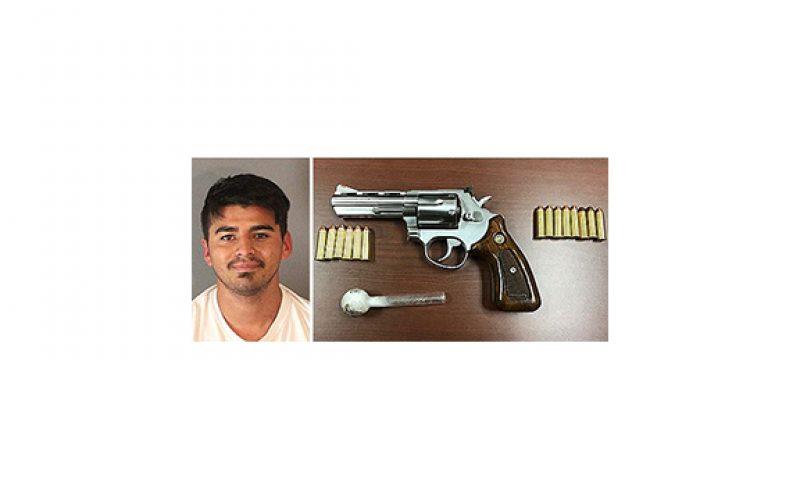 Traffic stop leads to loaded weapon, meth arrest