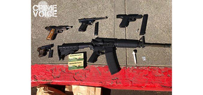 Man Acted Bizarrely, Had 5 Guns in Van