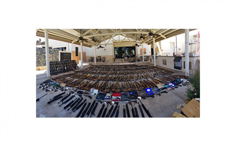 Arsenal of 553 Firearms Seized in Agua Dulce