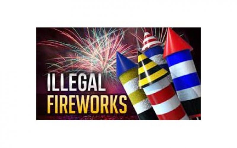 Suspect in Custody for Illegal Fireworks Possession and Sales