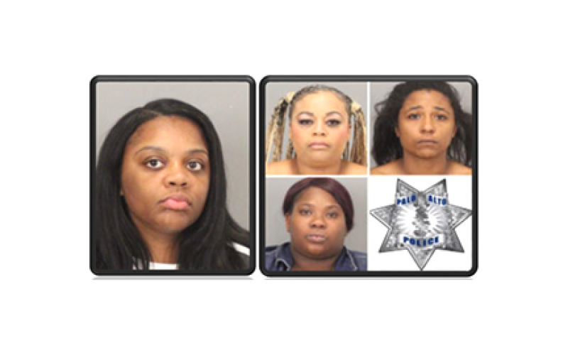 Five Female Shoplifters busted at Stanford Mall in Various Incidents