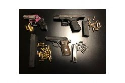 Three Gang Members with Guns Arrested